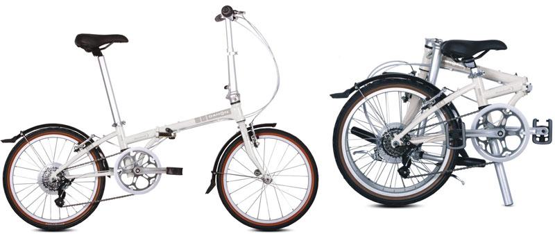 Hopfällbar Cykel (vikcykel)